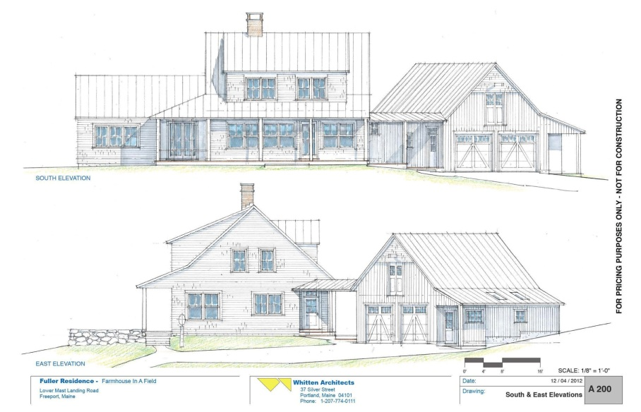 South and East Elevations