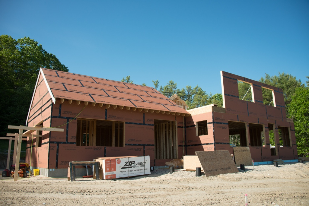 View from the front. Master bedroom on the left.  Wall on the 2nd floor are for the two bedrooms.