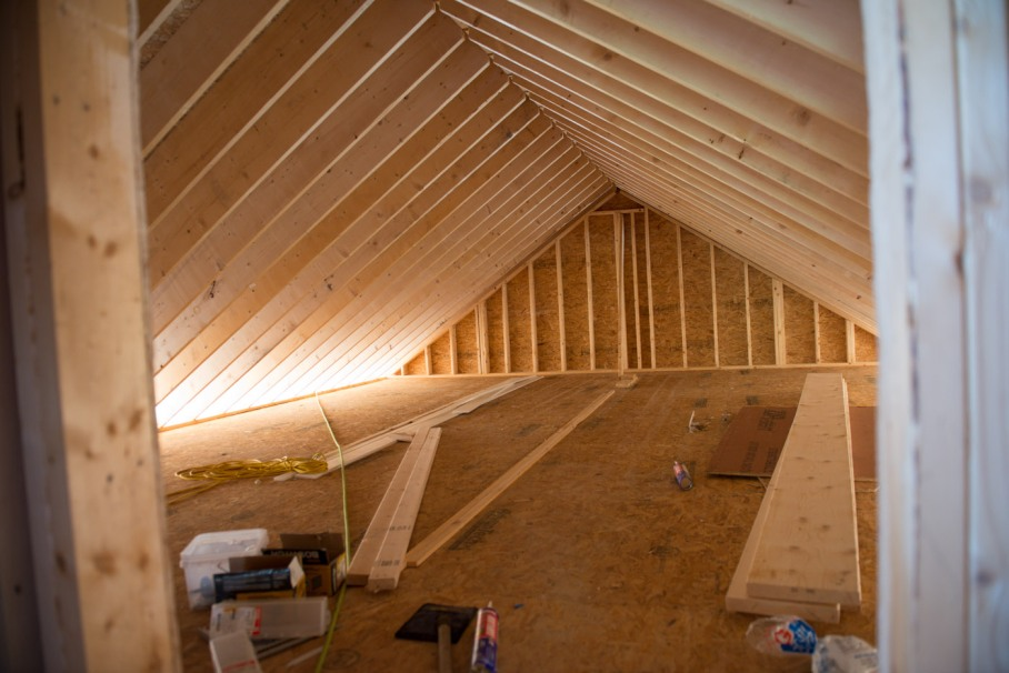 Attic / storage space over the master bedroom.