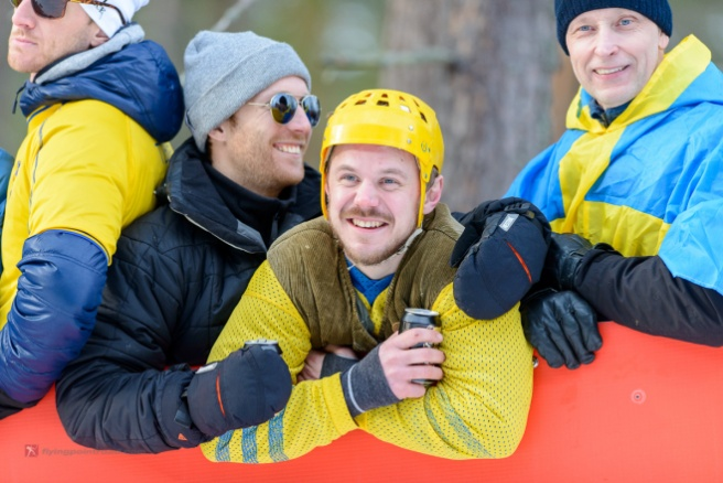 And why shouldn't you wear a hockey helmet to a ski race?